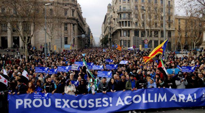 """Gran manifestación #VolemAcollir, """"queremos acoger"""""""