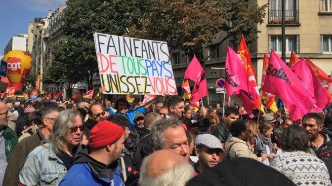 """Los """"holgazanes"""" desafían a Macron"""