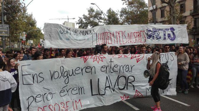 #Caputxinada2017: Notes de la lluita estudiantil pel referèndum