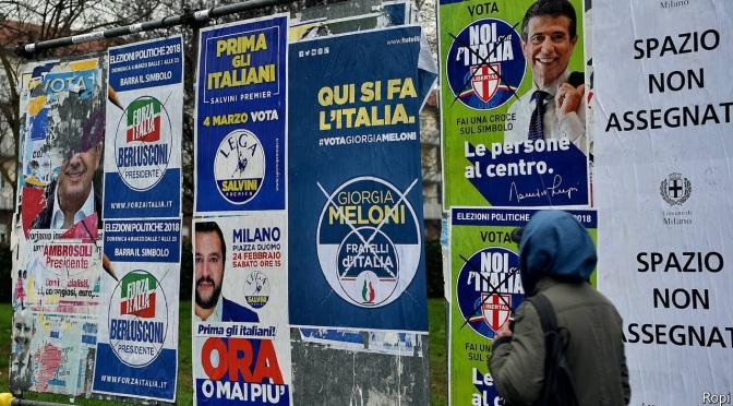 Ladrones y racistas compiten en las elecciones italianas