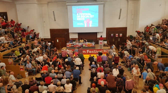 """Festival #Marxism2018 en Londres: """"aprendizaje y apoyo de clase internacional"""""""