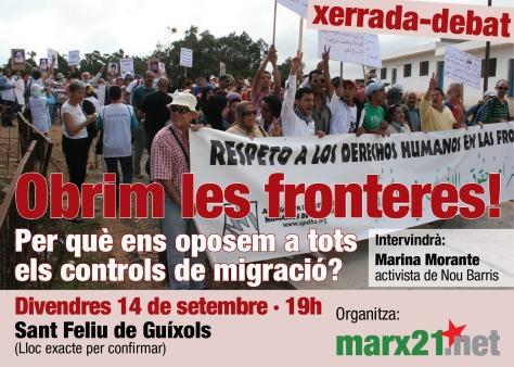 Cartell_Xerrada_Controls_immigració_S Feliu_14-09-18
