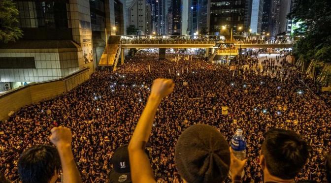 Protestas masivas en Hong Kong