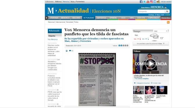 La unidad contra el fascismo y el racismo en Menorca